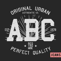 Sello vintage de abc vector