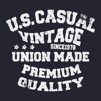 Casual vintage stamp
