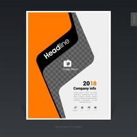 Black and orange business brochure template, cover design - Vector Illustration