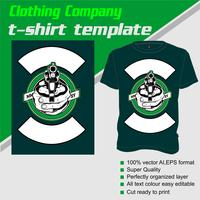 T-shirt template, fully editable with gun vector