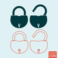 Padlock icon isolated