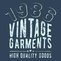 Vintage garments stamp