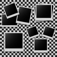 Abstrakte Fotorahmen eingestellt