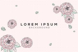 Pastel flora Design Background