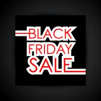 Black friday sale text vector