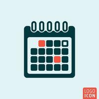 Icono de calendario diseño minimalista