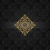 Abstract dark seamless pattern with golden element