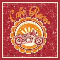 grunge style of cafe racer badge - Vector