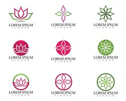 Lotus Flower Sign für Wellness, Spa und Yoga. Vektor-Illustration