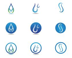 goutte d'eau Logo Template vector illustration design