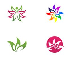 Lotus Flower Sign for Wellness, Spa and Yoga. Vector Illustration..