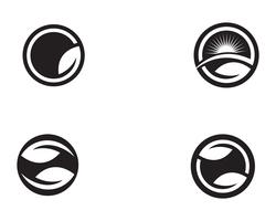 logotipo de natureza verde folha e modelo de símbolo