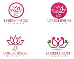 Lotus Flower Sign für Wellness, Spa und Yoga