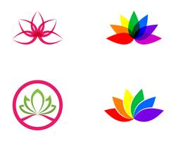 Lotus Flower Sign för Wellness, Spa och Yoga. Vektor illustration ..