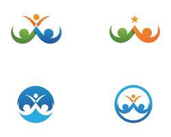familiezorg liefde logo en symbolen sjabloon ..