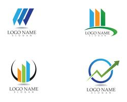 financieren logo en symbolen vector concept illustratie