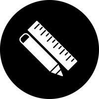 Vector potlood en liniaal pictogram