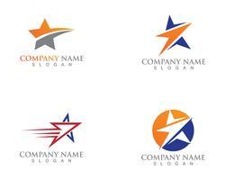 Star logo and symbols template vector icon illustration design