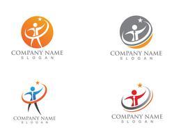 Aplicación de plantillas de logotipo y símbolos para el cuidado de personas