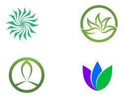 Signo de flor de loto para bienestar, spa y yoga. Ilustración vectorial ..