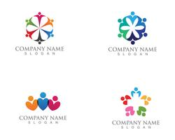 people care logo and symbols template app