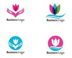 Lotusbloembord voor wellness, spa en yoga. Vector illustratie