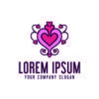 love decoration logo design concept template vector