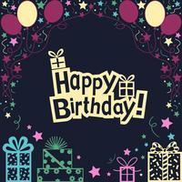 Gelukkige verjaardag illustratie achtergrond