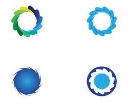 Iconos de plantilla de logotipo y símbolos de vórtice círculo
