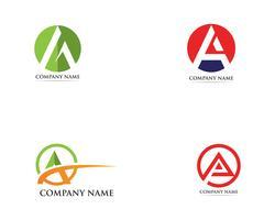Um ícone de vetor de modelo de negócios de logotipo
