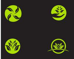Logo's groene blad ecologie natuurelement vector pictogram