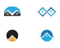 huis gebouwen logo en symbolen pictogrammen sjabloon