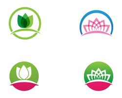 Lotus beauty Sign per Wellness, Spa e Yoga. Illustrazione vettoriale