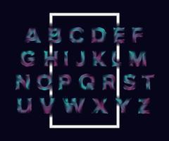 Lijngolf Alfabetletters instellen. trendy lettertype