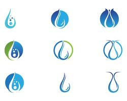 Goutte d'eau Logo Template vector illustration design - vecteur