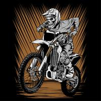 skull helmet riding motor cross vector