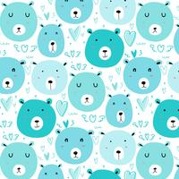 Cute bear pattern background.