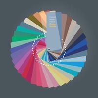 Ilustração do guia de paleta de cores para designer de interiores