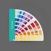 Ilustração do guia de paleta de cores para impressão, livro guia para designer, fotógrafo e artistas