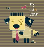 My little cute calf funny business concept