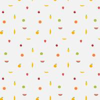 Background With Fruits Pattern. Hand Drawn Vector Illustration.