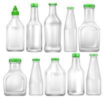 Set med transparent flaska