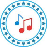 Vektor-Musiknoten-Symbol