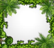 Green nature border frame vector