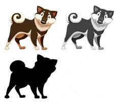 Set van hond karakter