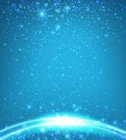 Background template with blue light
