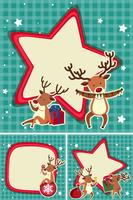 Border templates with christmas reindeers