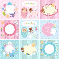 Set of cute baby border