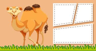 Camel on note template