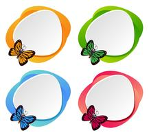 Set of butterfly banner vector